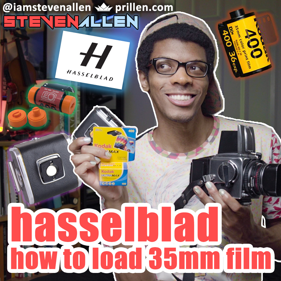 How To Load 35mm Film into Hasselblad 500CM