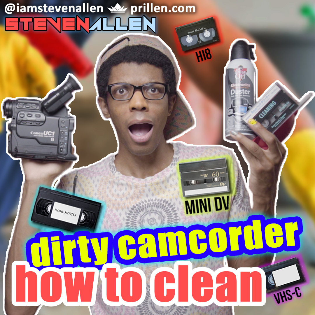 How To Clean A Dirty Tape Camcorder – Video8, VHS, VHS-C & MiniDV