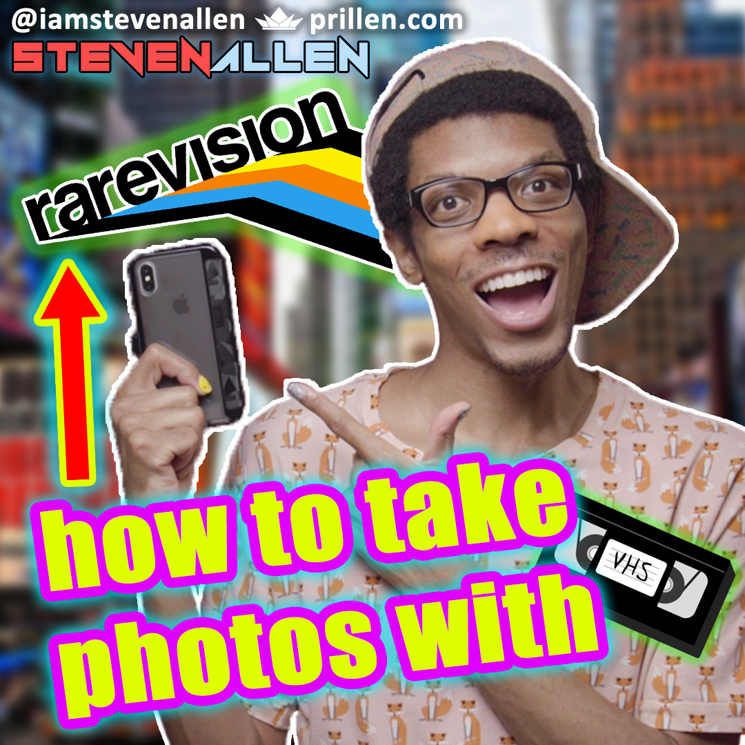 How To Take Photos With Rarevision VHS App For iPhone & Android